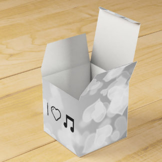 Letras frescas de la música cajas para detalles de boda