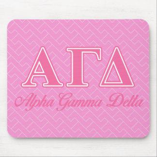 Letras gammas alfa del rosa del delta alfombrilla de raton