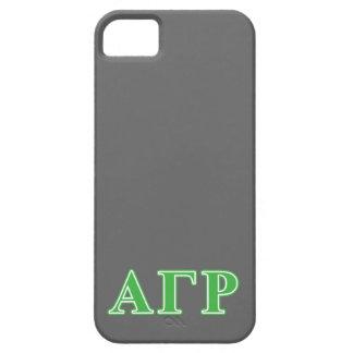 Letras gammas alfa del verde de rho iPhone 5 cárcasas