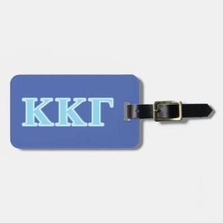Letras gammas de los azules cielos de Kappa Kappa Etiquetas Maletas