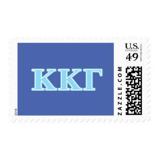 Letras gammas de los azules cielos de Kappa Kappa Franqueo