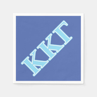 Letras gammas de los azules cielos de Kappa Kappa Servilleta Desechable