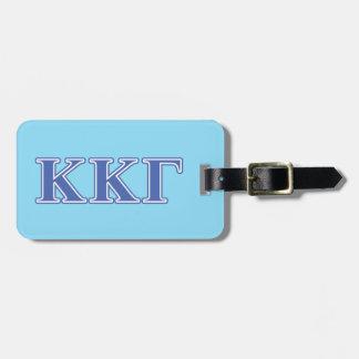 Letras gammas del azul real de Kappa Kappa Etiquetas Maleta
