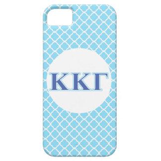 Letras gammas del azul real y de los azules cielos iPhone 5 Case-Mate carcasa