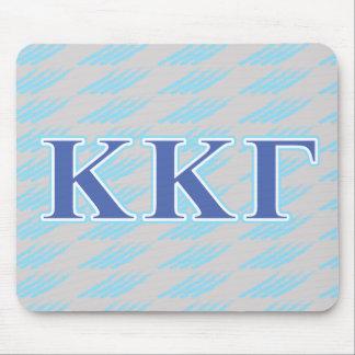 Letras gammas del azul real y de los azules cielos alfombrilla de ratón