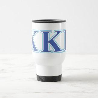 Letras gammas del azul real y de los azules cielos taza de café