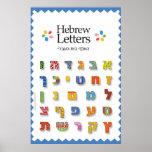 Letras hebreas impresiones