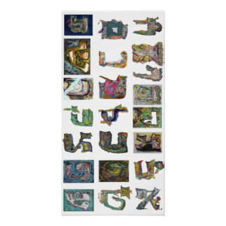 Letras hebreas perfect poster