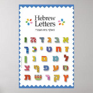 Letras hebreas póster