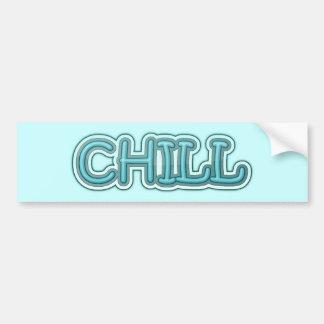 Letras heladas azules desapasibles pegatina para auto