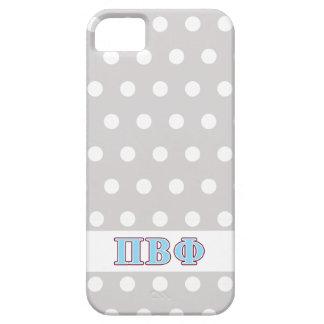 Letras marrón y azules de la phi beta del pi iPhone 5 carcasa