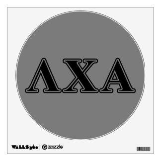 Letras negras alfa de la ji de la lambda vinilo