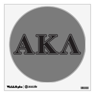 Letras negras alfa de la lambda de Kappa