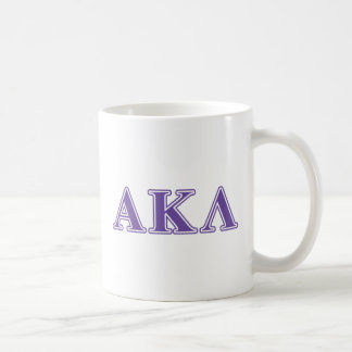 Letras negras alfa de la lambda de Kappa Taza De Café