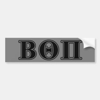 Letras negras beta de la theta pi pegatina de parachoque