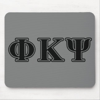 Letras negras de Kappa PSI de la phi Tapete De Ratón