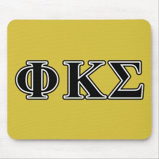 Letras negras de la sigma de Kappa de la phi Alfombrilla De Ratones