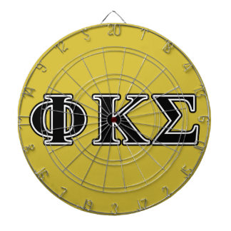 Letras negras de la sigma de Kappa de la phi Tabla Dardos