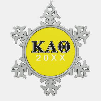 Letras negras de la theta alfa de Kappa Adorno