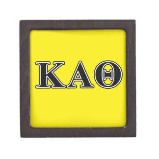 Letras negras de la theta alfa de Kappa Caja De Recuerdo De Calidad
