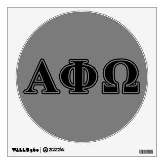 Letras negras de Omega de la phi alfa