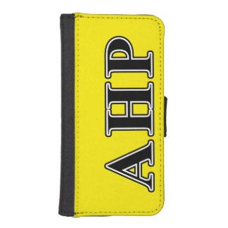 Letras negras de rho alfa de Eta Fundas Cartera De iPhone 5