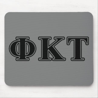 Letras negras del Tau de Kappa de la phi Tapetes De Ratones