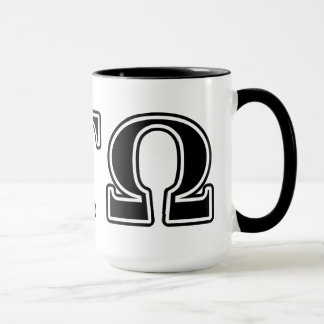 Letras negras del Tau Omega de la alfa Taza