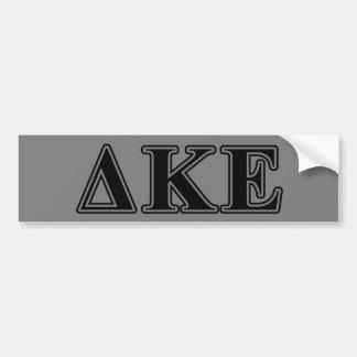 Letras negras épsilones de Kappa del delta Etiqueta De Parachoque