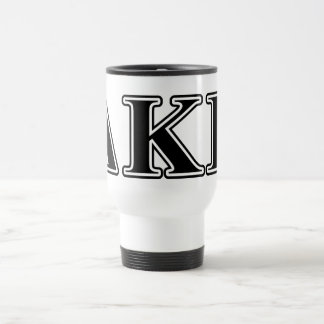 Letras negras épsilones de Kappa del delta Taza De Viaje