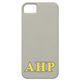 Letras negras y amarillas de rho alfa de Eta iPhone 5 Case-Mate Carcasas