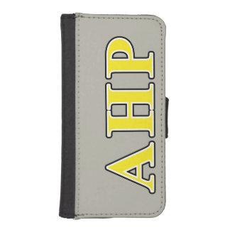 Letras negras y amarillas de rho alfa de Eta Funda Tipo Cartera Para iPhone 5