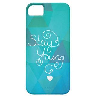 Letras para siempre jovenes de la mano de la iPhone 5 fundas
