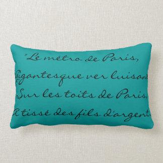 Letras París clásica elegante francesa de Edith Pi Almohadas