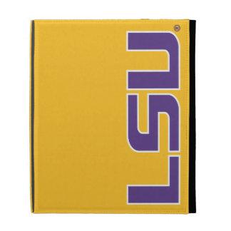 Letras púrpuras y blancas de LSU