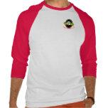 Letras rojas/blancas del rugbi de Jackson Camiseta