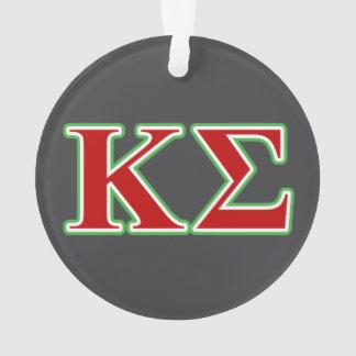 Letras rojas y verdes de la sigma de Kappa