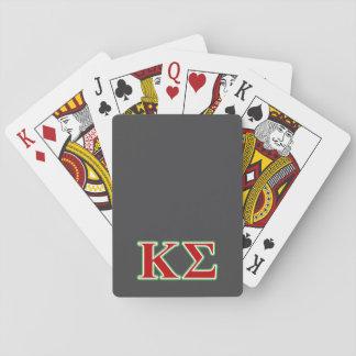 Letras rojas y verdes de la sigma de Kappa Baraja De Póquer