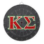 Letras rojas y verdes de la sigma de Kappa Tablero Dardos