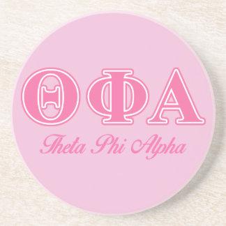 Letras rosadas alfa de la phi de la theta posavasos cerveza