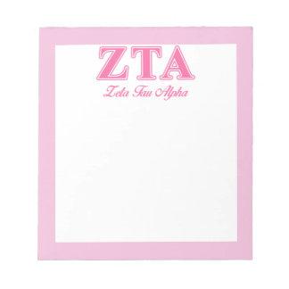 Letras rosadas alfa del Tau de la zeta Blocs