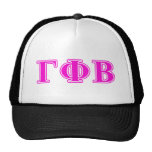 Letras rosadas brillantes beta de la phi gamma gorra