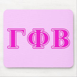 Letras rosadas brillantes beta de la phi gamma tapetes de ratones