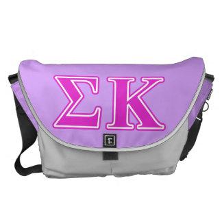 Letras rosadas de Kappa de la sigma Bolsas Messenger