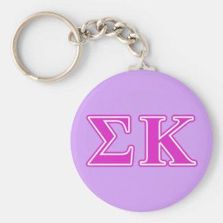 Letras rosadas de Kappa de la sigma Llavero Personalizado