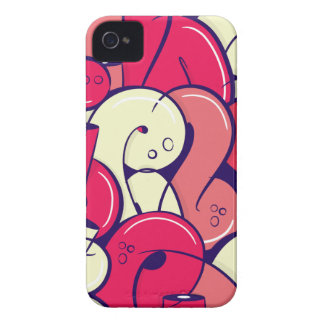 Letras rosadas de la pintada iPhone 4 Case-Mate carcasa