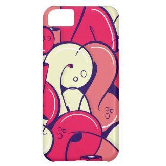 Letras rosadas de la pintada funda para iPhone 5C