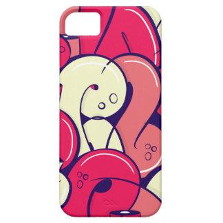Letras rosadas de la pintada iPhone 5 carcasa