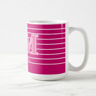 Letras rosadas de MU de la phi Tazas