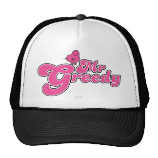 Letras rosadas de Sr. Greedy el   Gorros Bordados